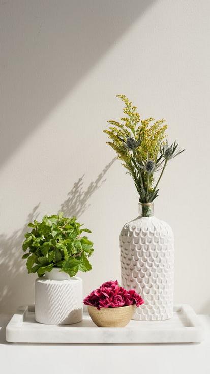 Vas Bunga Dari Botol Bekas Dan Tanah Liat My Paw Craft