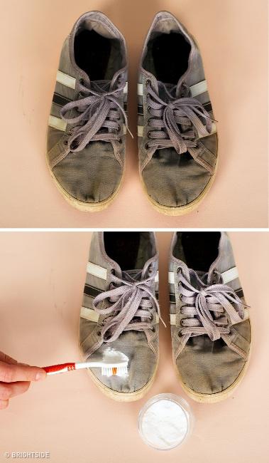 Membersihkan Kain Sepatu