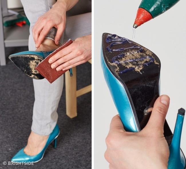 Membuat Alas Sepatu Tidak Licin