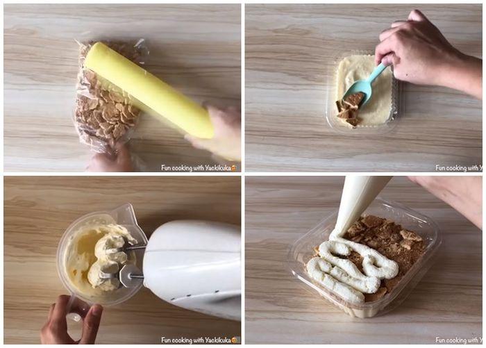cara membuat dessert in box layer 2