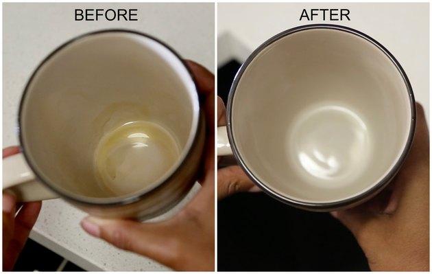 cara membersihkan noda kopi pada cangkir
