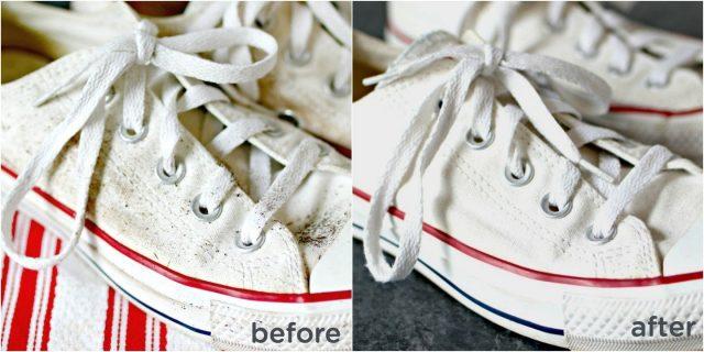 cara membersihkan sepatu kanvas agar terlihat baru lagi